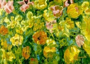 flowers, oil on canvas 30x40 1996