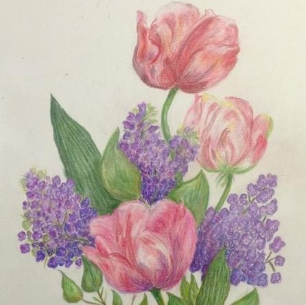 Draw W Colored Pencils Spring 2019 Tue Art Lab