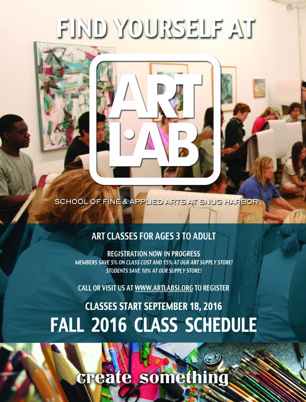 Fall Classes Begin September 18 @ Art Lab, Inc | New York | United States