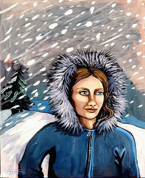 """Woman in a Snowsotrm"" - Kira Yustak"